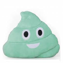 Top Trenz Strawberry-Scented Aqua Blue Poop Emoji Pillow
