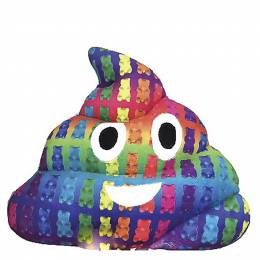 Top Trenz Gummy Bear Print Scented Poop Emoji Pillow