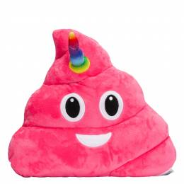 Top Trenz Unicorn Poop Smiley Emoji Pillow