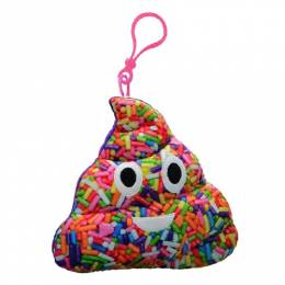 Top Trenz Sprinkle-Scented Poop Smiley Emoji Plush Clip