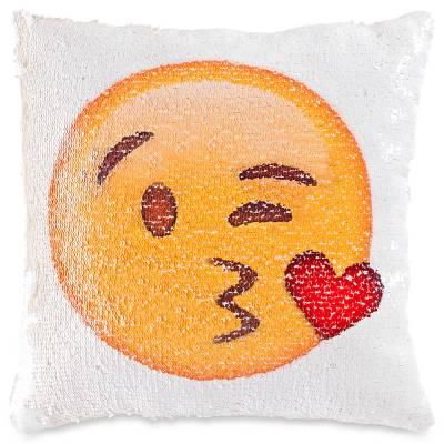 Emoji Mermaid Sequin Pillow