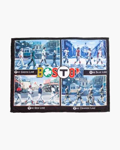 T-Pass Ultimate Sherpa Boston Sports Throw Blanket
