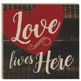 P. Graham Dunn Love Lives Here Rustic Magnet