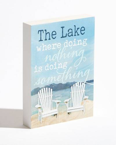 Exclusive The Lake Wooden Box Sign