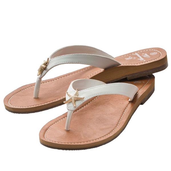9f80cef3e7e65 Amanda Blu White Starfish Sandals