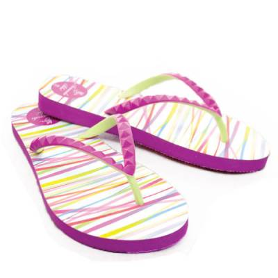 Purple Stripes Flip Flops