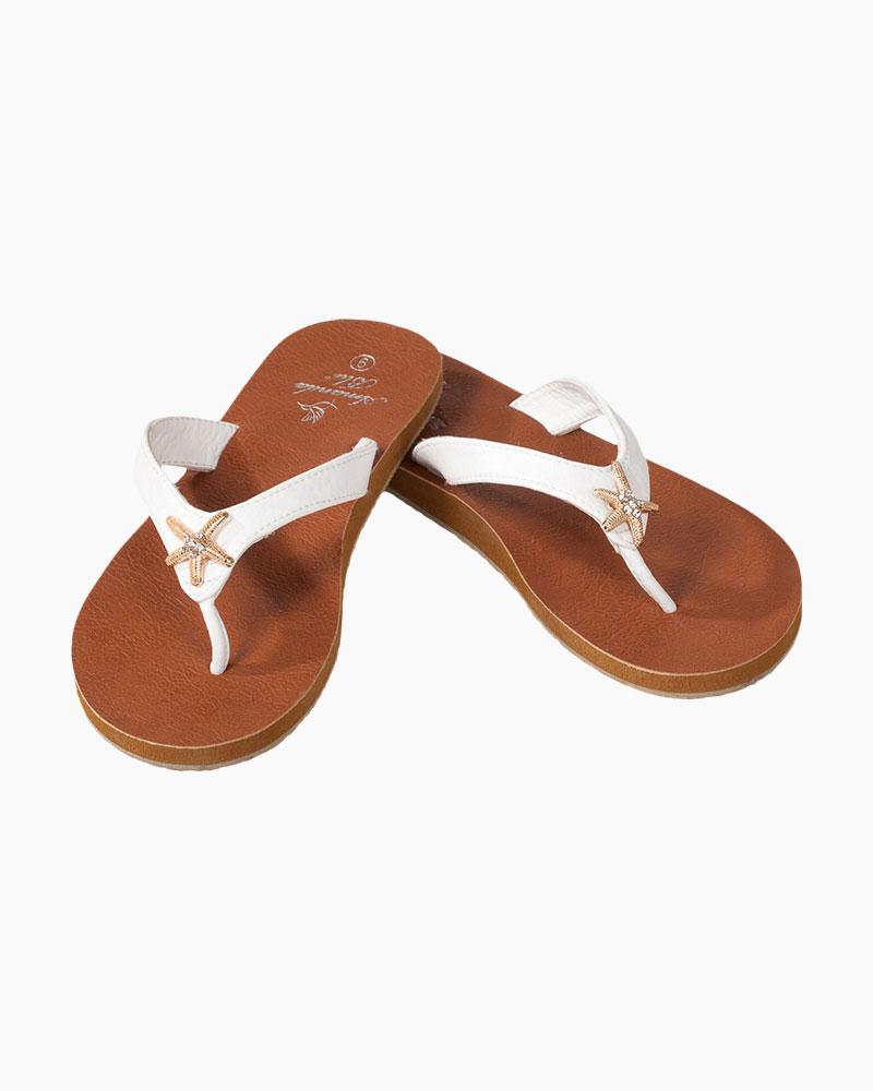 edf1a3aa36efc Amanda Blu Starfish Sandals in White