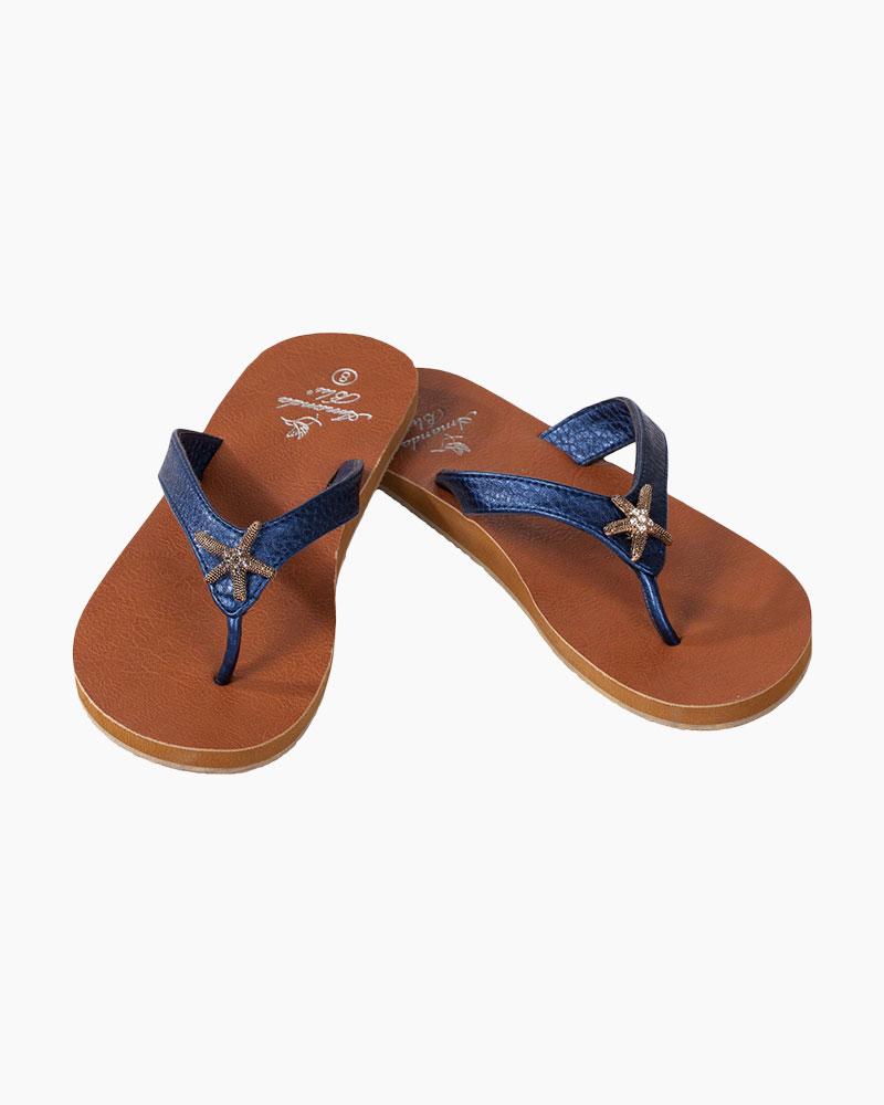 Amanda Blu Starfish Sandals in Navy