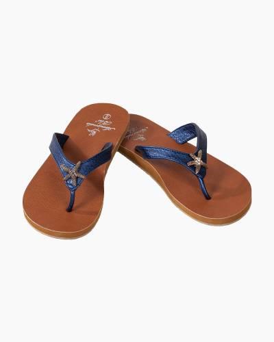 Starfish Sandals in Navy