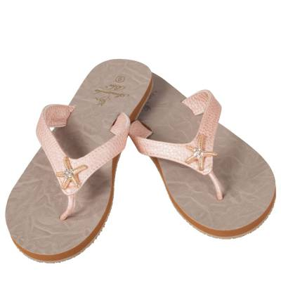 Starfish Sandals in Blush Pink