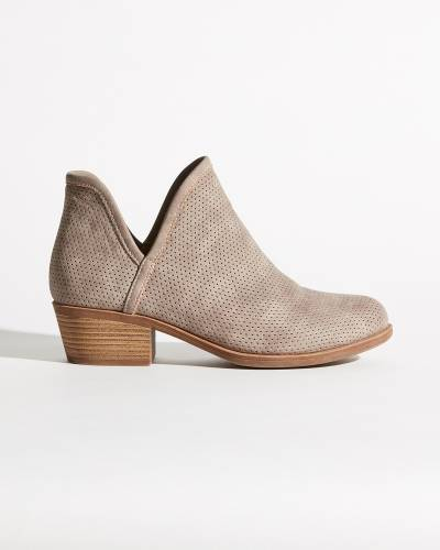 Taupe Perforated Booties
