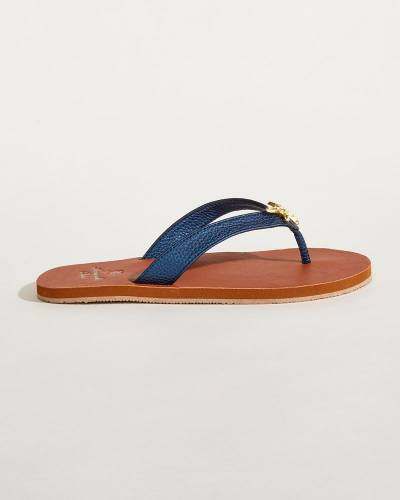 Navy Starfish Sandals