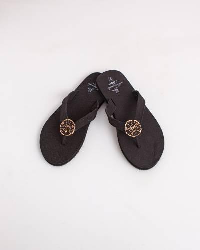 Black Sand Dollar Sandals