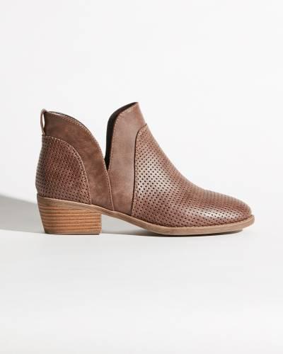 Elm Bootie Slip-ons in Brown