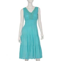 Mlle Gabrielle Turquoise Flowers Dress