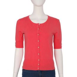 Spense Knits Short Sleeve Coral Cardigan Top