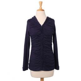 Downeast Basics Ruffle Hooded Cardigan