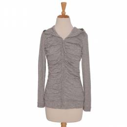 Downeast Basics Pleated Grey Tunic with Hood