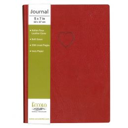 Eccolo Red Heart Journal