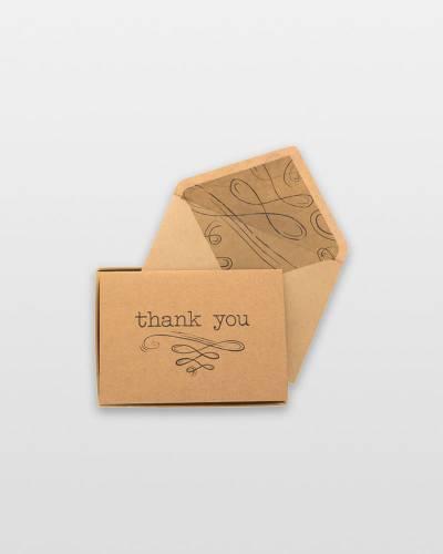 Kraft Flourish Thank You Notes