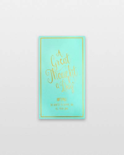 A Great Thought a Day Pad in Seafoam
