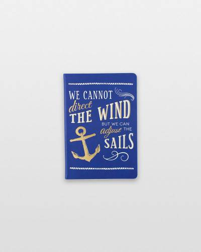 Adjust the Sails Anchor Lined Journal