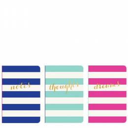 Eccolo Wide Stripes Pocket Jotters Journal Set