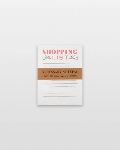 Shopping List Oversized Notepad