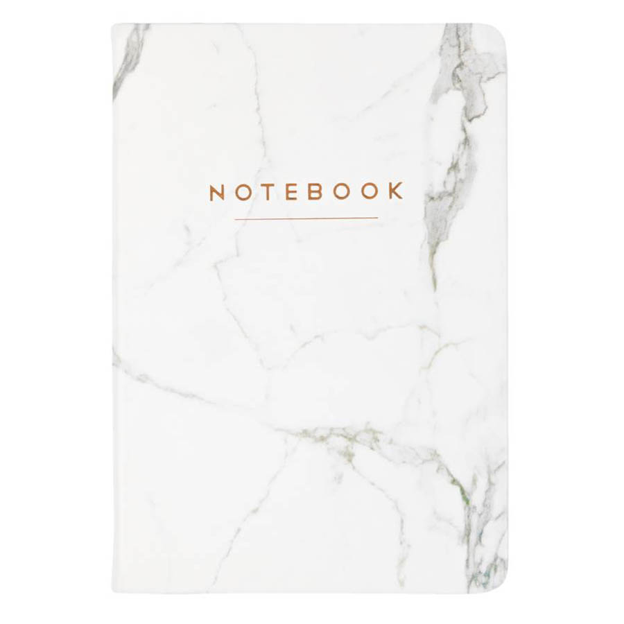 Eccolo White Marble Notebook