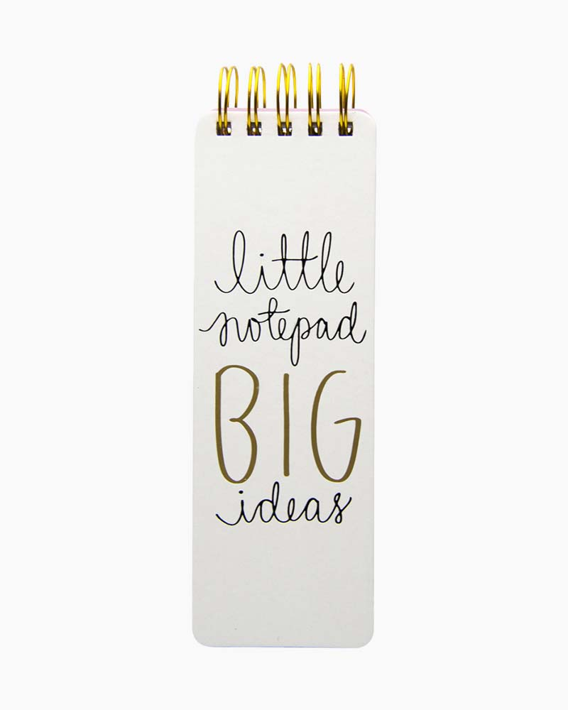 Eccolo Spiral Bound Little Notepad of Big Ideas
