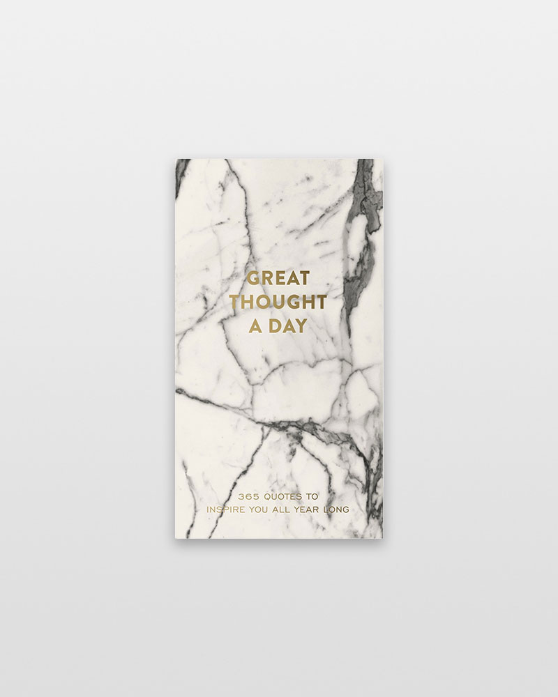 Eccolo A Great Thought a Day Pad in Marble