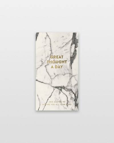 A Great Thought a Day Pad in Marble