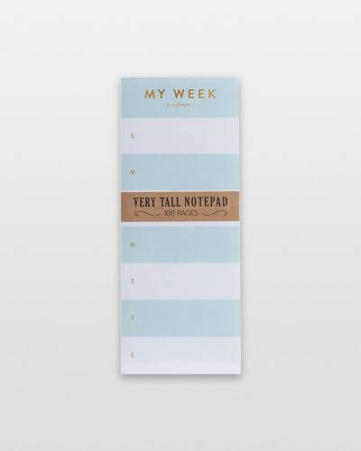 My Week Very Tall Notepad