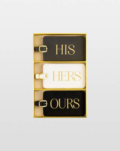 His Hers Ours Luggage Tag Set