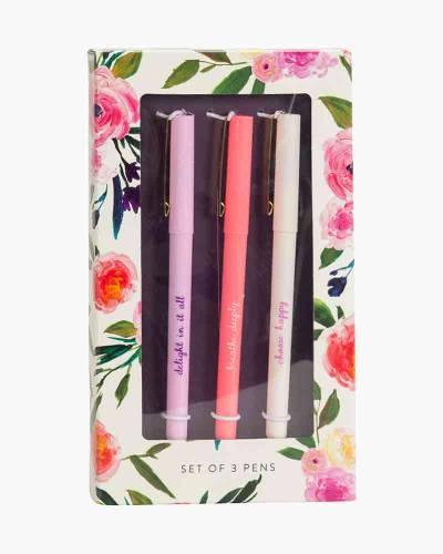 Floral Cream Pen Set (3-Pack)