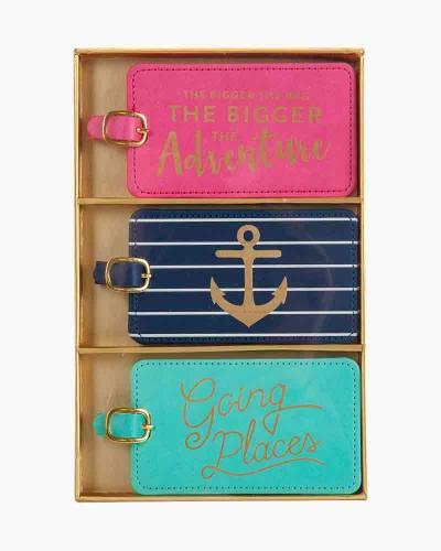 Nautical Anchor Luggage Tag Set