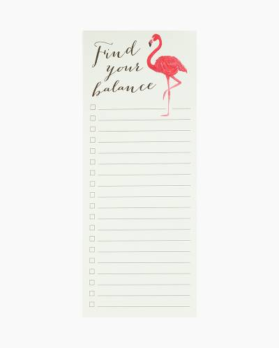 Find Your Balance Flamingo Very Tall Notepad