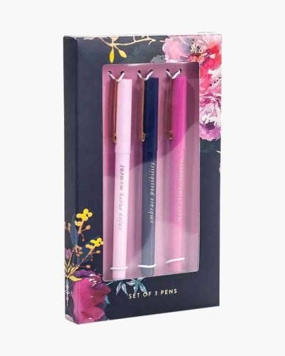 Navy Floral Pen Set (Set of 3)