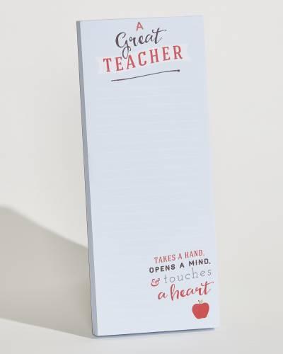 Teacher Very Tall Notepad