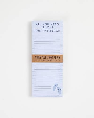 Flip Flop Beach Very Tall Notepad