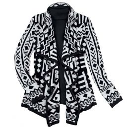 B.Boston Associates Aztec Waterfall Cardigan