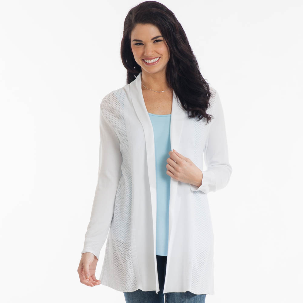 The Paper Store Open-Weave Cardigan