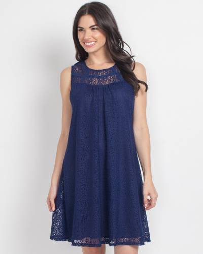 Exclusive Navy Lace Dress