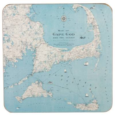 Cape Cod and the Islands Coasters (Set of 4)