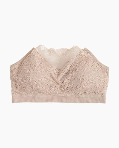 Lace Coverage Bra in Nude
