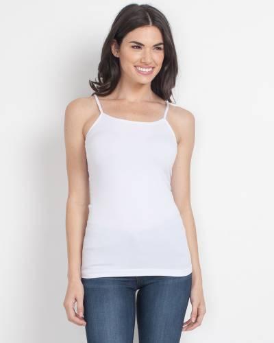Ultra Stretch Thin Strap Camisole in White