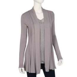 Dantelle Smokey Grey Pleated Cardigan