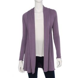 Dantelle Purple Pleated Cardigan