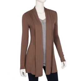 Dantelle Chocolate Pleated Cardigan