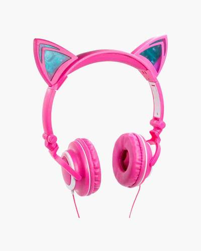 Feline Cat Ear Premium Headphones in Pink